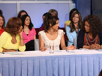 Oprah, Gayle and Padma at the judges' table