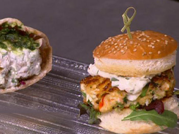 Curtis Stone and Andrea's Earth and Surf Sandwiches