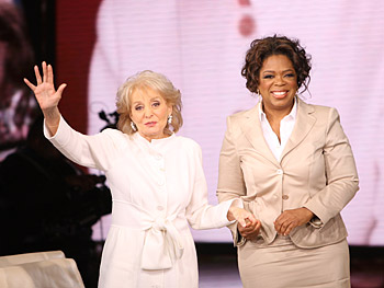 Barbara Walters and Oprah