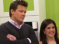 Tyler Florence and his cooking partner