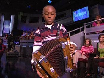 Guyland Leday plays the accordion.