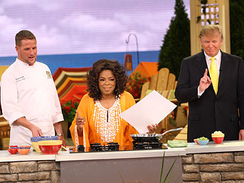 Mar-a-Lago's executive chef Jeff O'Neill, Oprah and Donald Trump