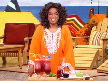 Oprah's favorite summer cocktail, the Pomegranate Daiquiri