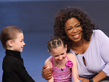 Oprah with Rickie Taylor and Erik Linder