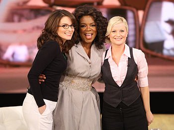 Oprah with Tina Fey and Amy Poehler