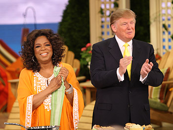 Oprah and Donald Trump