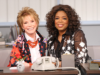 Mary Tyler Moore and Oprah