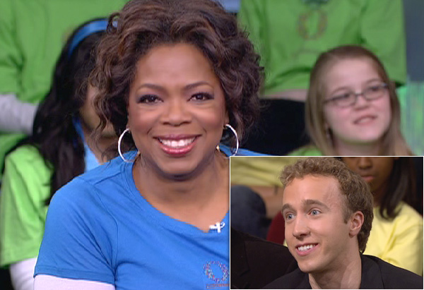 Oprah and Craig Kielburger