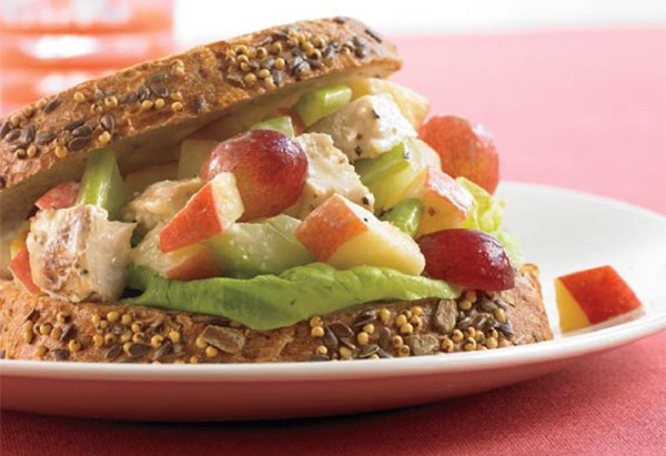 Biggest Loser Chicken Salad Dijon with Grapes and Apple recipe