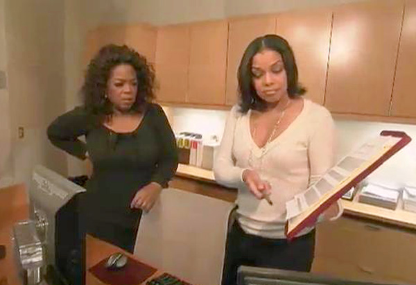 Oprah and her assistant, Novona