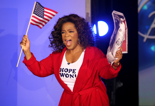 Oprah talks about President-elect Barack Obama.