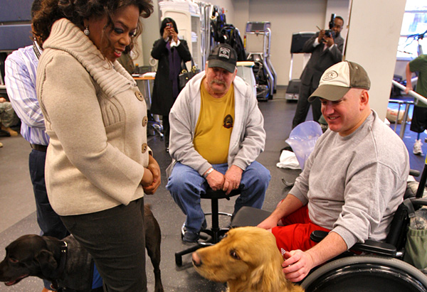 Sgt. Paul McAlister and Oprah discuss life after Walter Reed.