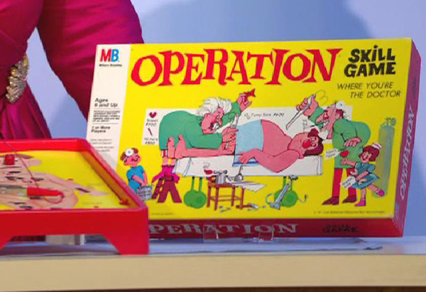 Milton Bradley's board game Operation
