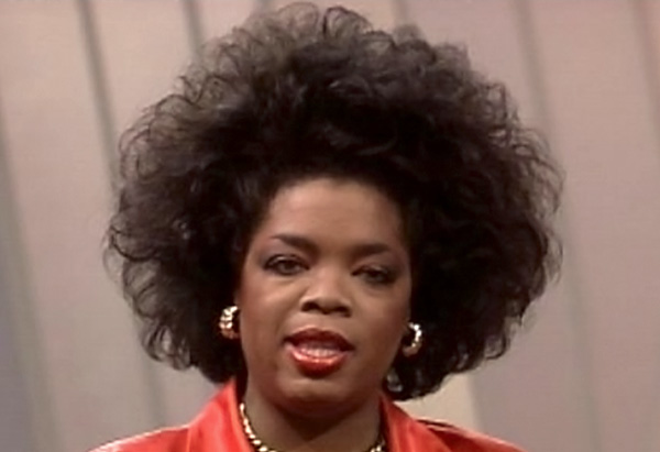 Oprah's hair when she first arrived in Chicago