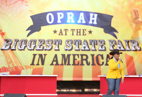 Oprah visits the State Fair of Texas
