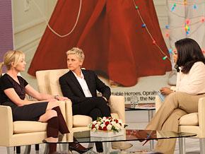 Ellen DeGeneres, Portia de Rossi and Oprah