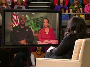 Senior Sgt. Mark Todd, Sgt. Kimberly Munley and Oprah