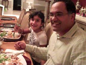 The Rathi family dinner