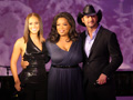 Oprah with Tim McGraw and Alicia Keys