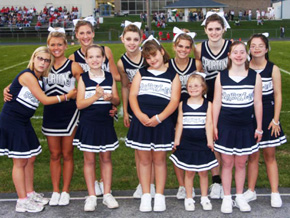 Spartan Sparkles cheerleaders
