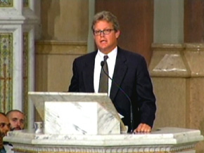 Ted Kennedy Jr. at Sen. Edward Kennedy's funeral