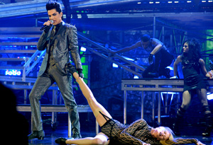 Adam Lambert at the American Music Awards