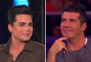 Adam Lambert and Simon Cowell
