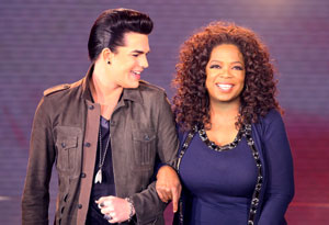 Adam Lambert and Oprah
