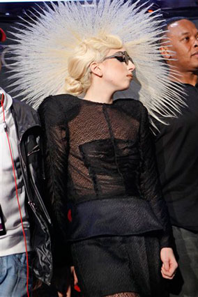 Lady Gaga's press conference outfit