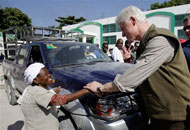 President Bill Clinton in Haiti