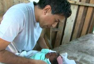 Dr. Sanjay Gupta in Port-au-Prince, Haiti