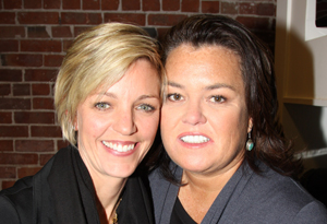 Rosie O'Donnell and Kelli Carpenter