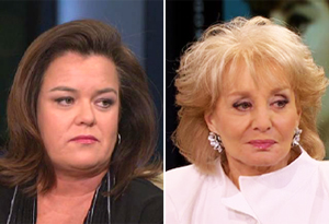 Rosie O'Donnell and Barbara Walters