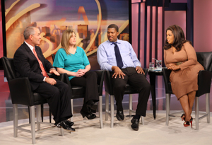 Larry O'Donnell, Jaclyn, Fred and Oprah