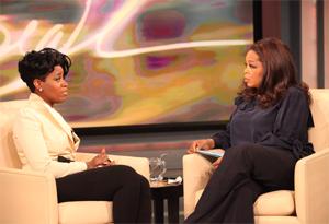 Fantasia Barrino and Oprah