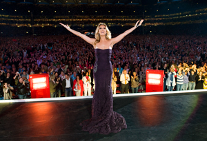 Celine Dion on tour