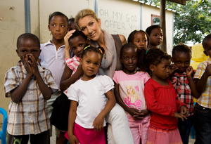 Celine Dion with South African fans