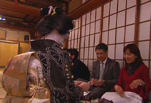 Sayuki gets ready for a banquet.