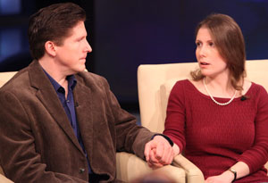 Gregg Milligan and his wife, Sarah