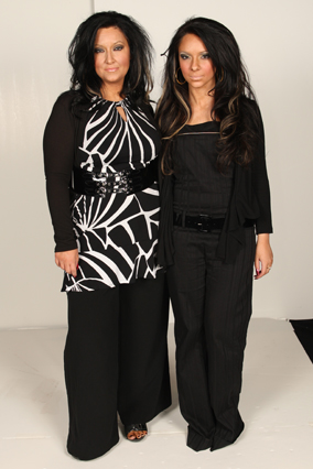 Liz and Vanessa, before