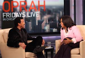Oprah and Lionel Richie