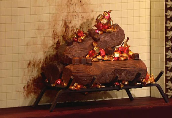 Oprah's chocolate fireplace