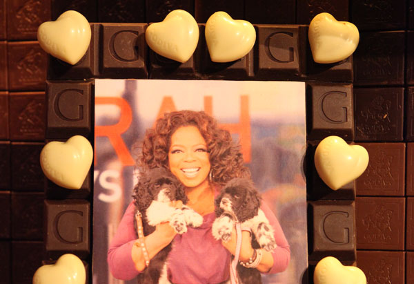 Oprah's chocolate picture frame