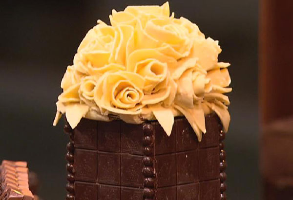 Oprah's chocolate flowers