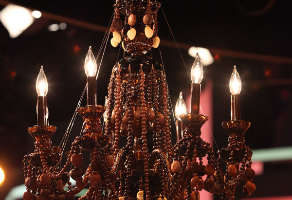 Oprah's chocolate chandelier