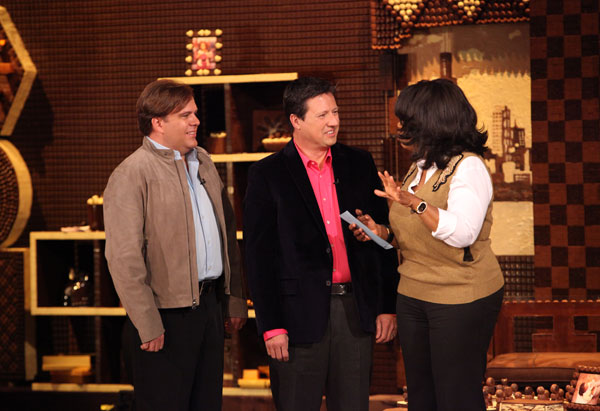 Oprah congratulates Larry and Raymond