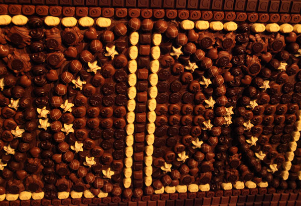 Oprah's chocolate mosaic