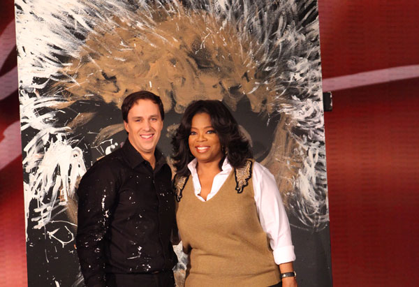 Rob Surette and Oprah