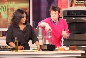 Jamie Oliver cooks.