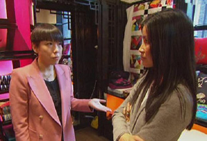 Lisa Ling and Angelica Cheung in Shanghai